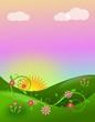 Obrazy na płótnie, fototapety, zdjęcia, fotoobrazy drukowane : Fairytale landscape in sunset