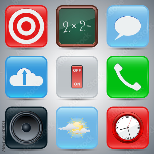Application icons vector set 2