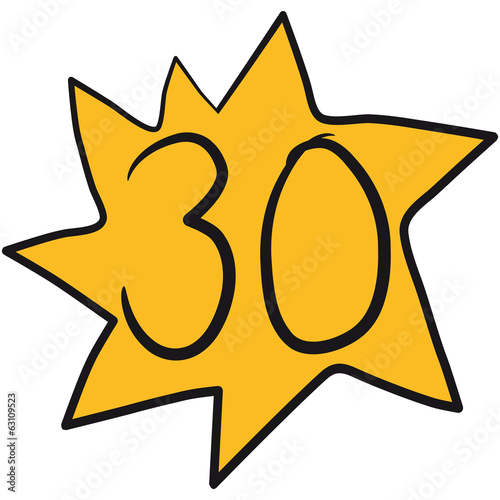 30 Stern Comic Cartoon Gemalt Star