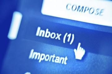 inbox button