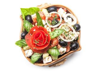 Fresh vegetable salad in plate