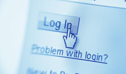 login on screen