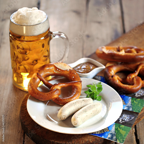 canvas print picture traditionelle Weißwurst