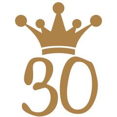 30 Krone König Prinz Königin Prinzessin
