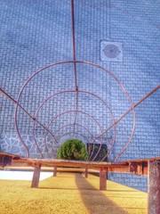 Leiter Blick vom Dach
