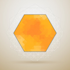 vector abstract geometric background in hexagon