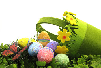 Happy Easter Egg Hunt Spring scene