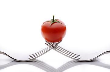 forchetta con pomodoro