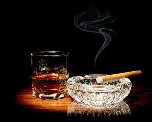 Whisky and a cigar