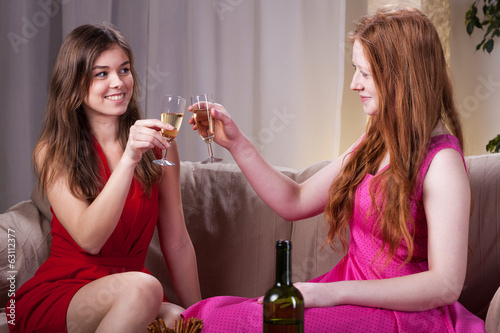 Girls celebrating an occasion