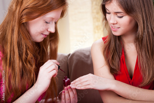Woman doing one's nails