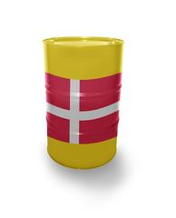 Barrel with Danish flag