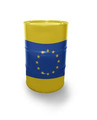 Barrel with European Union flag