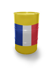 Barrel with French flag