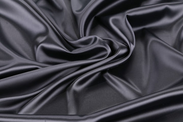 Black silk background.