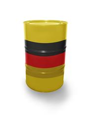 Barrel with German flag