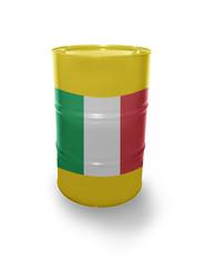 Barrel with Italian flag