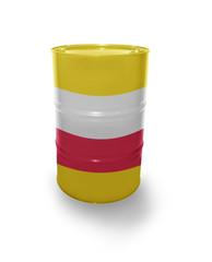Barrel with Polish flag