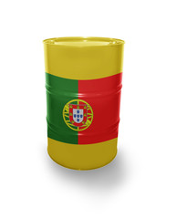 Barrel with Portuguese flag