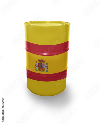 Barrel with Spanish flag