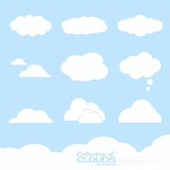 Clouds illustration collection