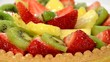 fruit tart close up