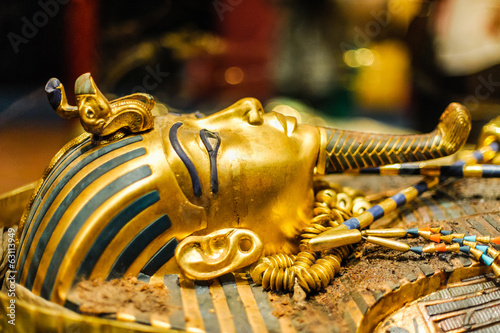 Leinwanddruck Bild Mask of pharaoh Tutankhamun