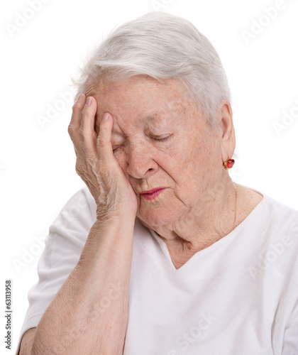 Old  woman suffering from pain