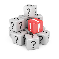 Questions and answer cubes
