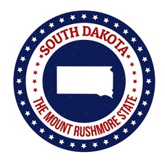 South Dakota stamp