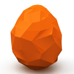 Polygonal orange Easter egg, 3d