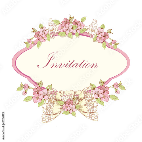 Blooming cherry invitation