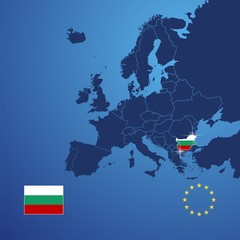 Bulgaria map cover vector
