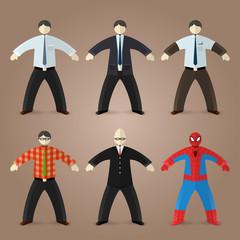 Business men, accountant, egghead nerd