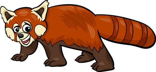 red panda animal cartoon illustration