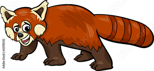 red panda animal cartoon illustration