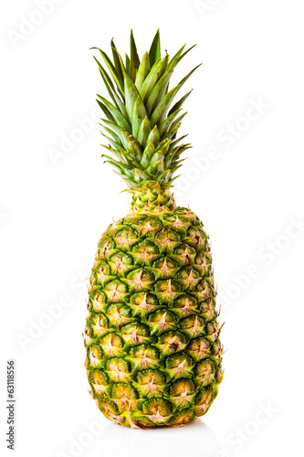 Fresh  pineapple Isolated on a white background.