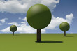 Spherical trees