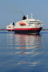 Two Hurtigruten crossing