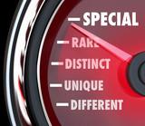 Special Distinct Different Speedometer Measure Uniqueness poster