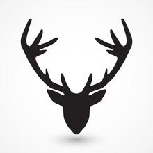 tête de cerf silhouette