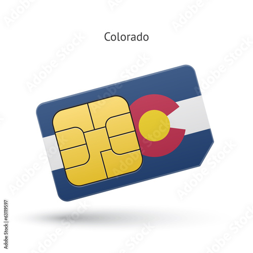 State of Colorado phone sim card with flag.