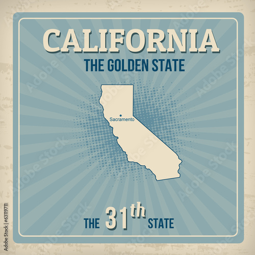 California retro poster