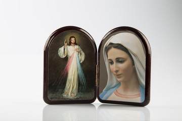 Merciful Jesus and Our Lady of Medjugorje icons