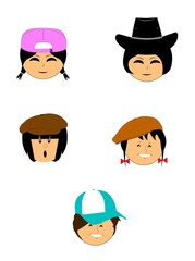 children with hats on