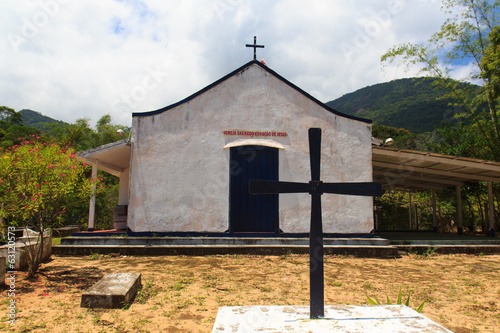 Church on island Ilha Grande, Brazil