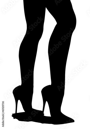 Silhouette of female legs