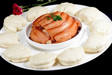 Chinese Food: Steamed Bread with Pork