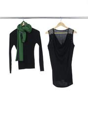 female clothing hanging