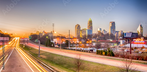 early morning in charlotte nc